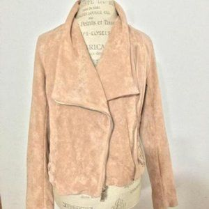 BCBGeneration Faux-Suede Lace-Up Moto Jacket
